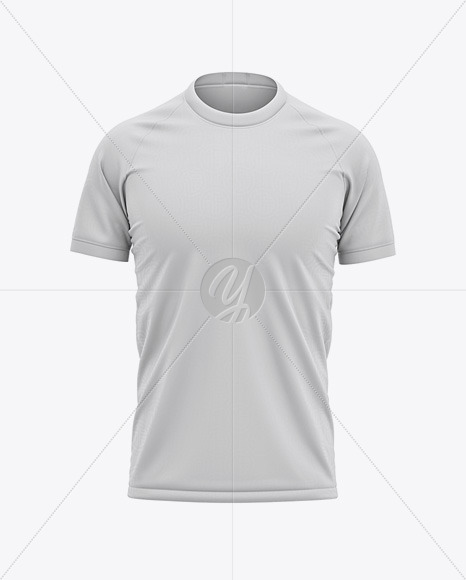 Download Crew Neck Soccer T Shirt Mockup Front View Yellowimages