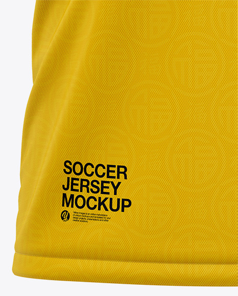 Men's Crew Neck Soccer Jersey Mockup - Front View Of Soccer T-Shirt