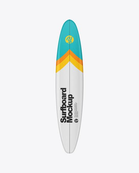 Surfboard Longboard Mockup - Front View