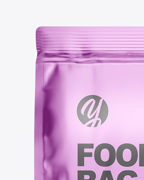 Metallic Matte Food Bag Mockup