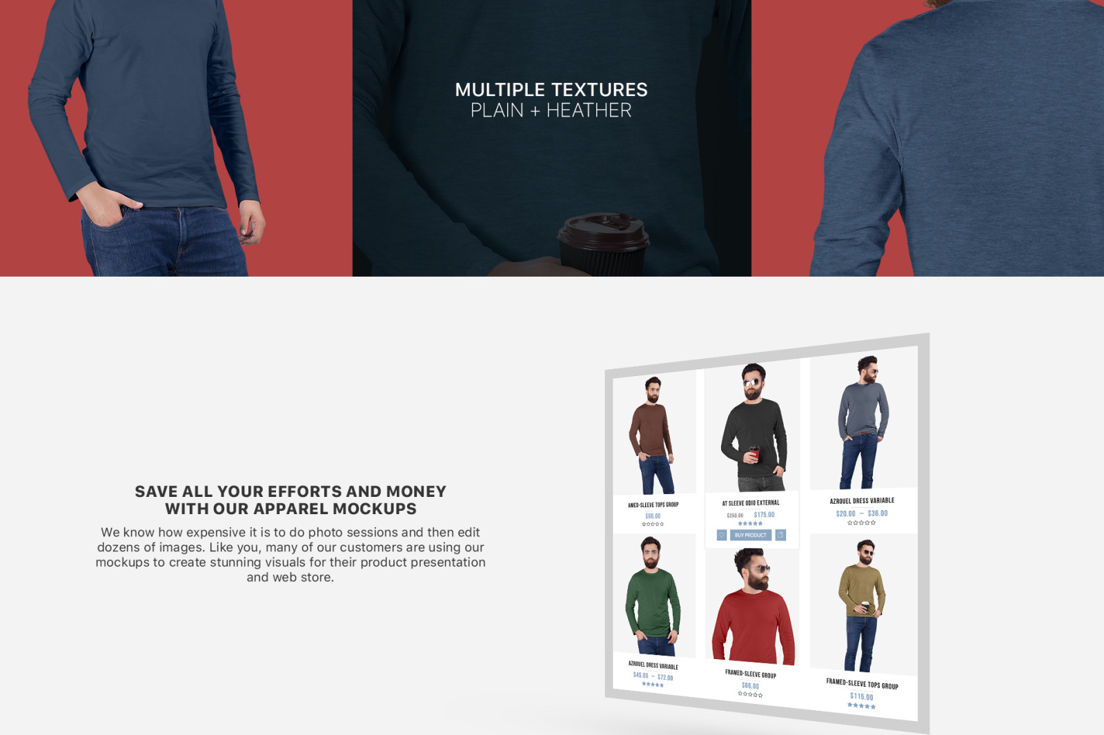 Men S Crew Neck Shirt Mockup Set In Apparel Mockups On Yellow
