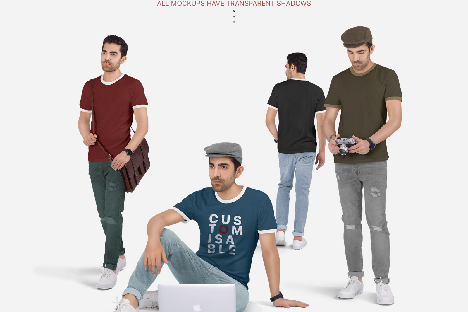 Download Man In A T Shirt And Jeans Mockup Yellowimages