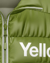 Matte Women's Down Vest Mockup - Front View