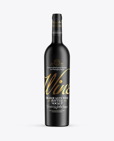 Download Ceramic Wine Bottle PSD Mockup