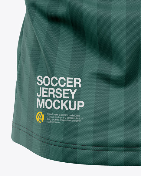 Men's Soccer Crew Neck Jersey Mockup - Back View