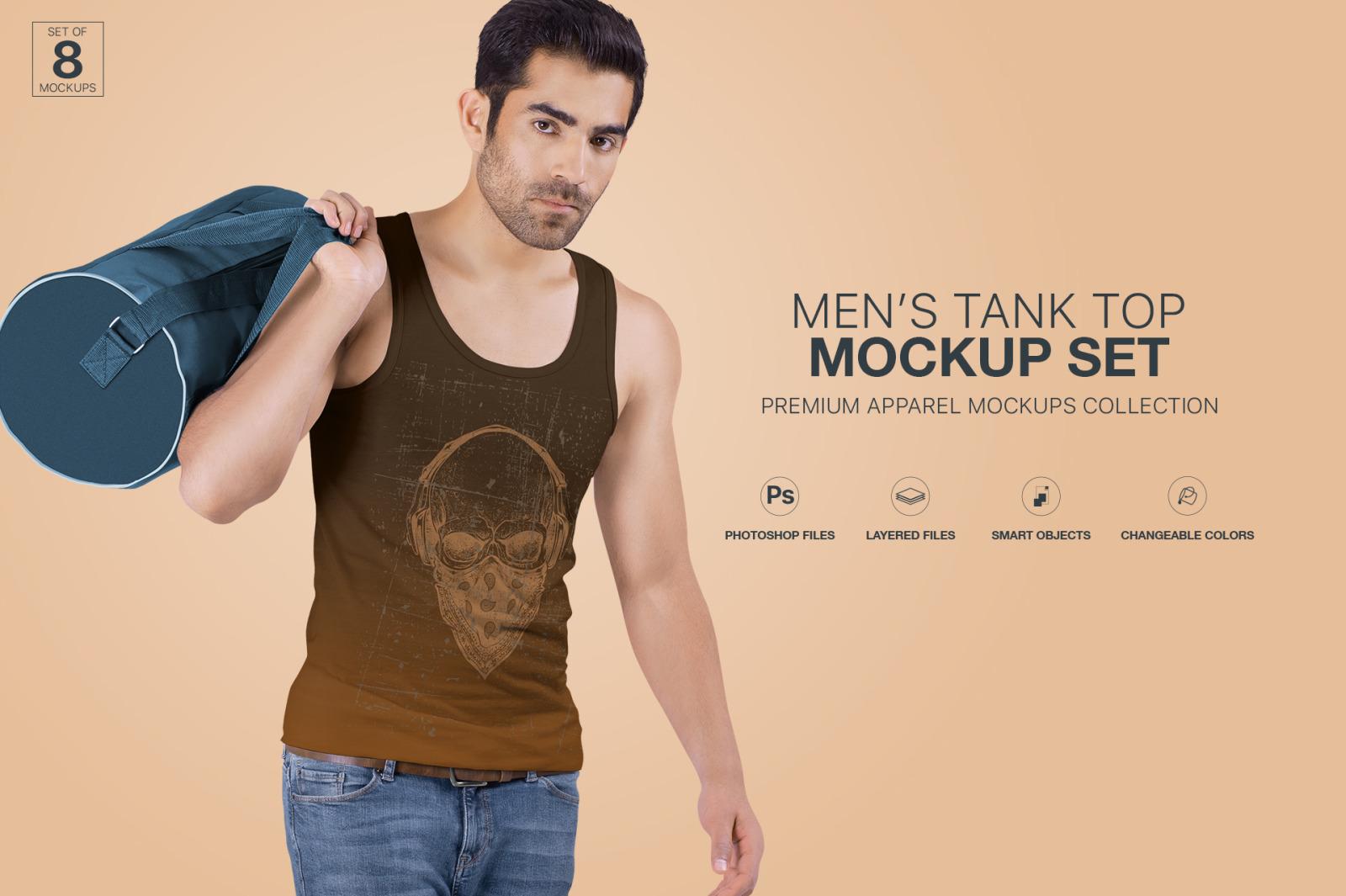 Men's Tank Top Mockup Set