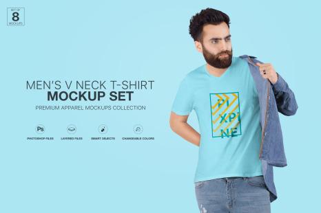 Mockup High Resolution Black T Shirt Template