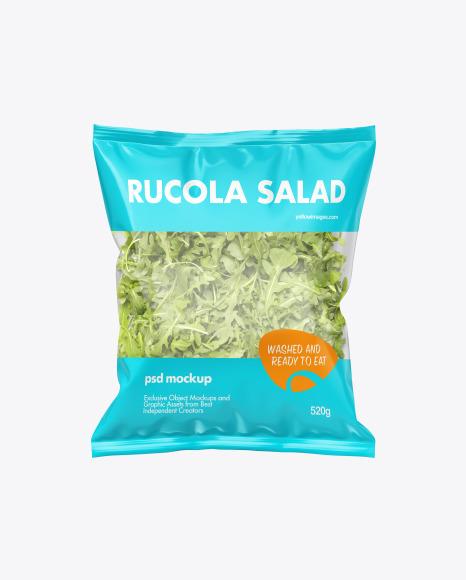 Download Plastic Bag With Salad PSD Mockup