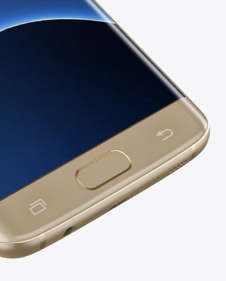 Gold Platinum Samsung Galaxy S7 Phone Mockup