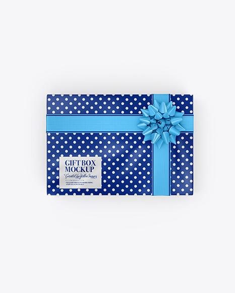 Download Matte Gift Box PSD Mockup