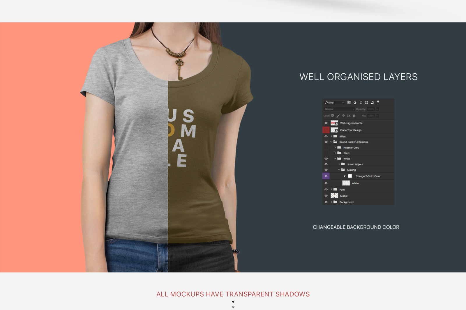 Download Women S Short Sleeve T Shirt Mockup Set In Apparel Mockups On Yellow Images Creative Store PSD Mockup Templates