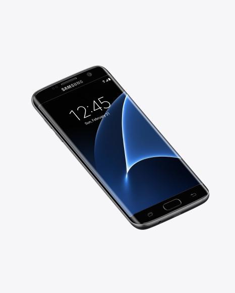 Download Black Onyx Samsung Galaxy S7 Phone PSD Mockup