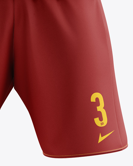 Men's Full Soccer Kit with Lace-Up Jersey mockup (Front View)