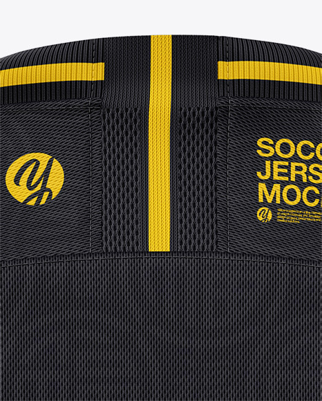 Men's Crew Neck Soccer Jersey Mockup - Back View