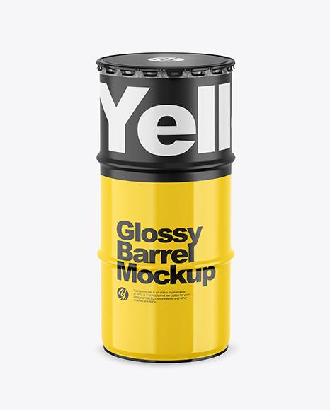 Download Glossy Barrel PSD Mockup