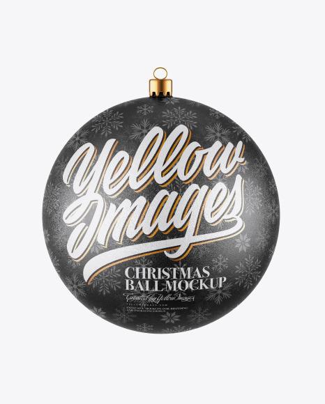 Download Glitter Christmas Ball PSD Mockup