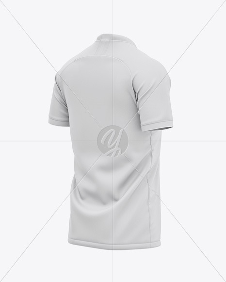 Men's Crew Neck Soccer Jersey Mockup - Back Half Side View Of Soccer T-Shirt