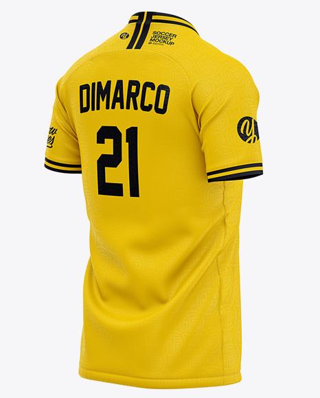 Download Mens Raglan Crew Neck T Shirt Mockup Back View Football Jersey Soccer T Shirt Yellowimages