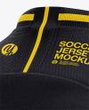 Men's Crew Neck Soccer Jersey Mockup - Back Half Side View