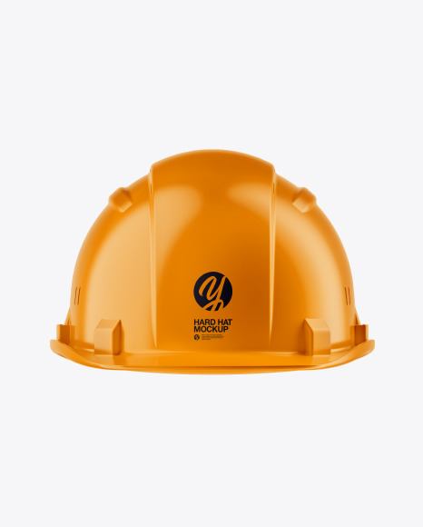 Glossy Hard Hat Mockup - Front View