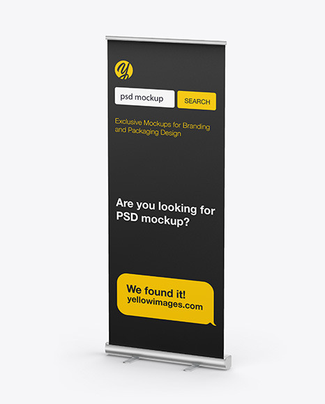 Download Matte Rollup Banner PSD Mockup
