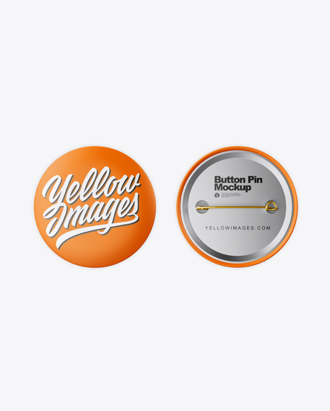 Download Two Button Pins PSD Mockup