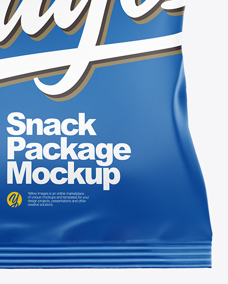 Matte Snack Mockup -  Front View