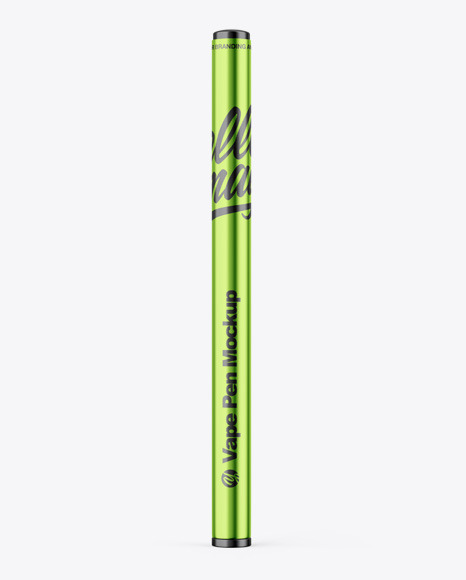 Download Glossy Metallic Vape Pen PSD Mockup
