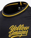 Men's Crew Neck Soccer Jersey Mockup - Front Half Side View Of Soccer T-Shirt