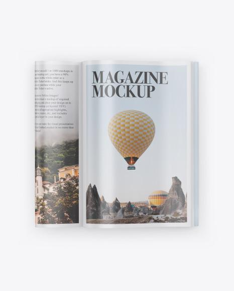 Download Glossy Magazine PSD Mockup