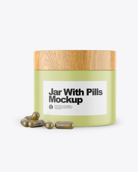 Download Jar With Pills PSD Mockup