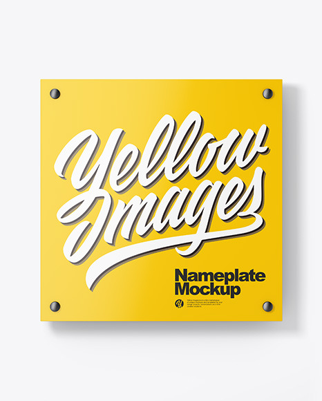 Download Glossy Nameplate PSD Mockup