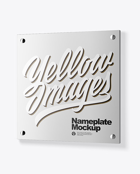 Download Metallic Nameplate PSD Mockup
