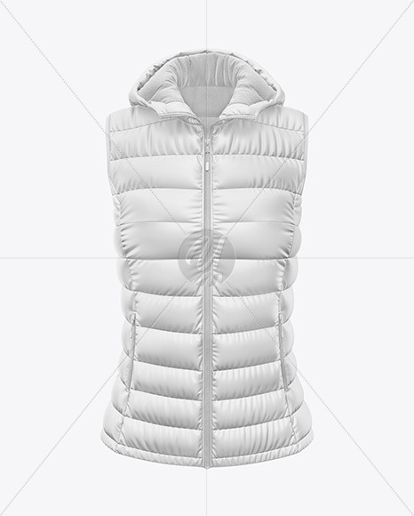 Download Matte Womens Down Vest Mockup Back View Yellowimages