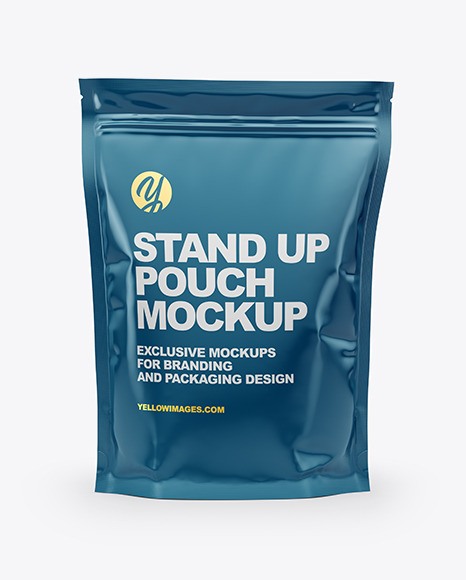 Download Glossy Stand Up Pouch PSD Mockup