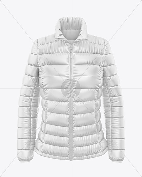 Download Glossy Womens Down Jacket Mockup Back Half Side View Yellowimages