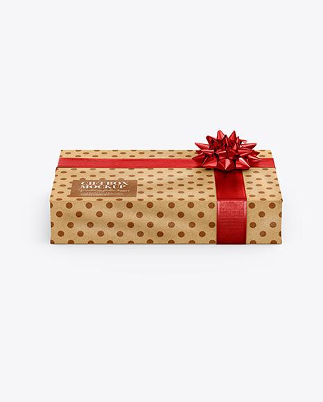 Download Kraft Gift Box PSD Mockup
