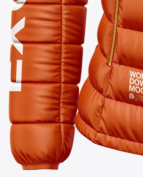 Matte Women's Down Jacket Mockup - Front View