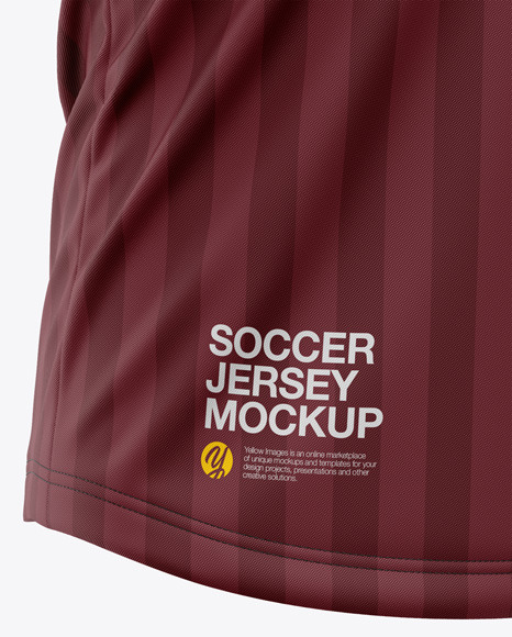 Men's Crew Neck Soccer Jersey T-Shirt Mockup - Front Half-Side View - Football Jersey Soccer T-Shirt
