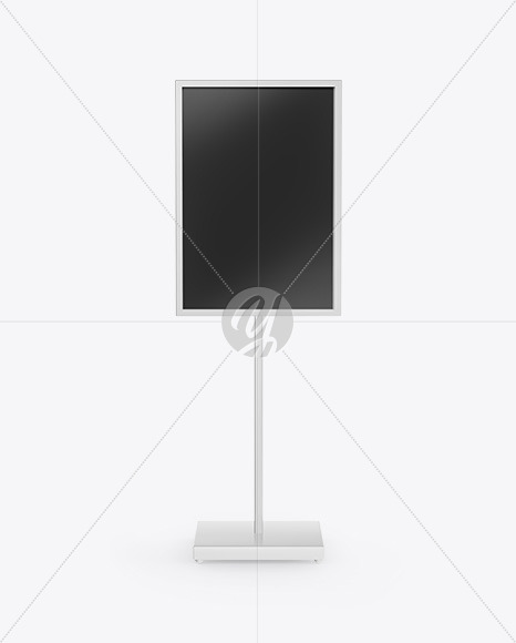 Display Stand Mockup - Front View