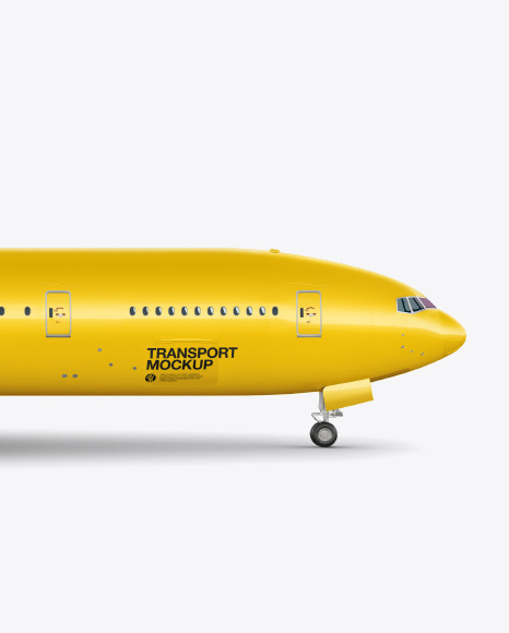Download Airliner Side View PSD Mockup