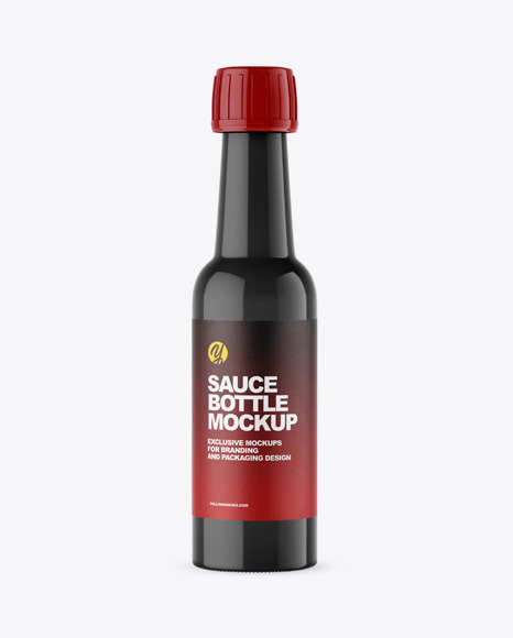 Download Glossy Sauce Bottle PSD Mockup