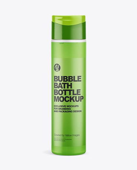 Download Bubble Bath Bottle PSD Mockup