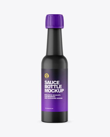 Download Matte Sauce Bottle PSD Mockup