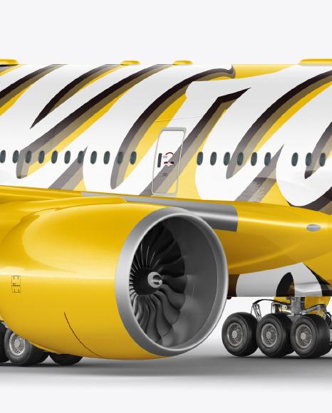 Airliner Mockup - Half Side View