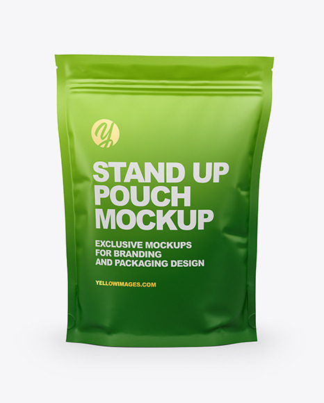 Matte Stand Up Pouch Mockup