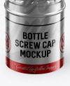 Metallic Screw Cap Mockup