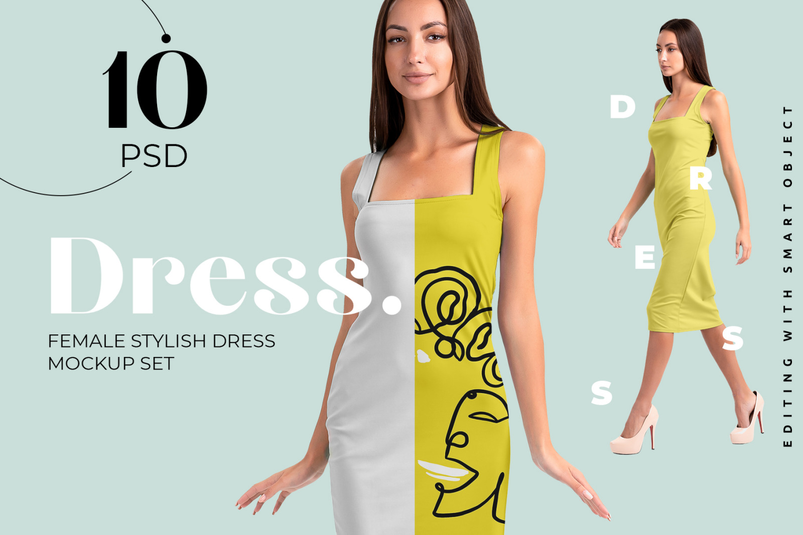 Download Dress Mockup Psd Yellow Images
