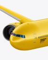 Flying Airliner Mockup - Half Side View