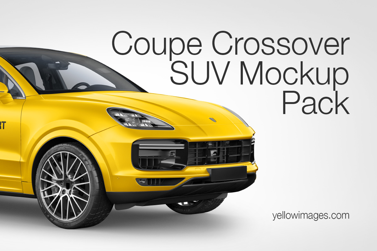 Coupe Crossover SUV Mockup